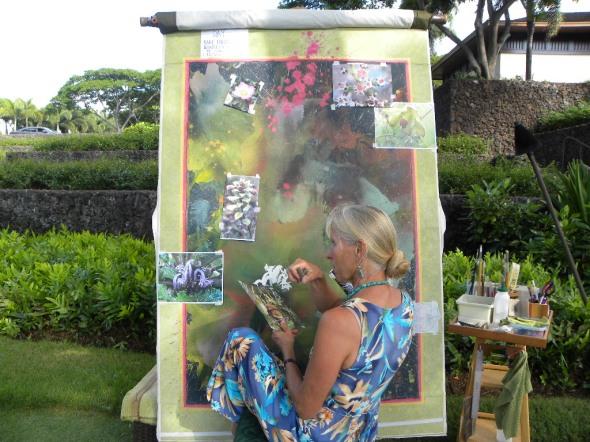 Calley Progress on Hawaiian Flowers 002