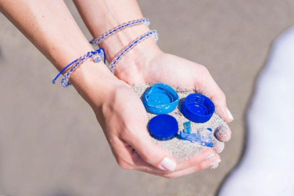Sale of these bracelets are cleaning the oceans