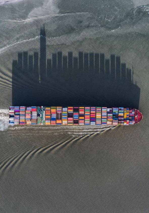 ship's shadow