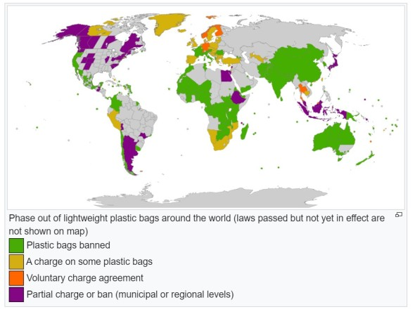 Worldwide plastic ban efforts